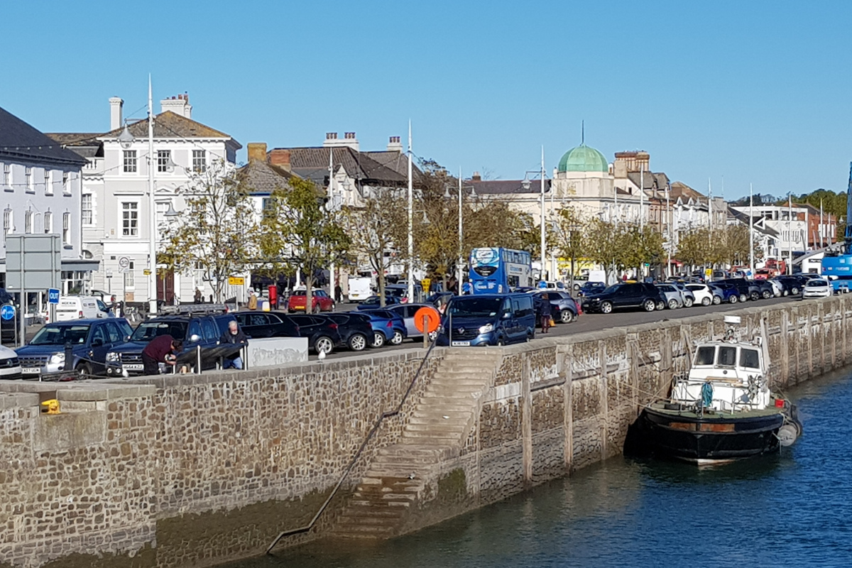 Bideford Quay is a short distance from Instow
