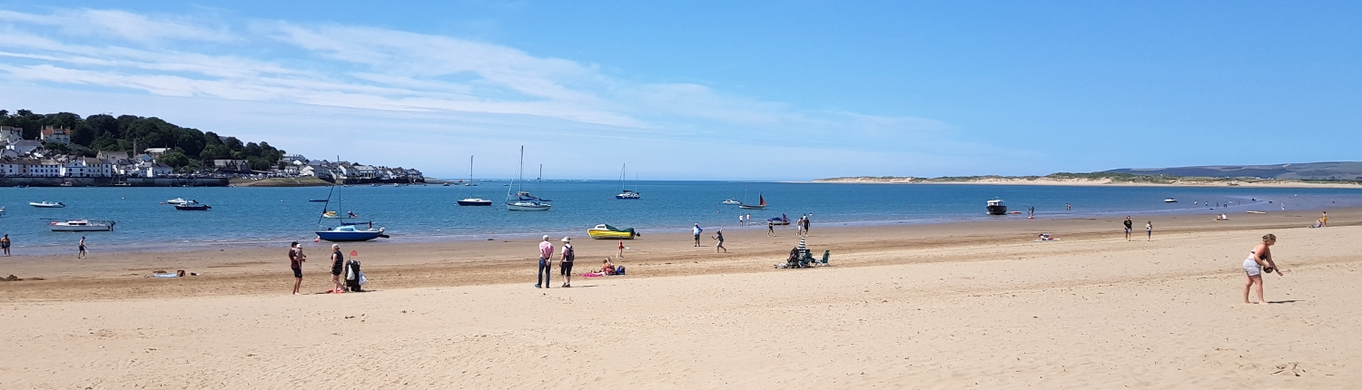 Instow beach towards Bideford Bay