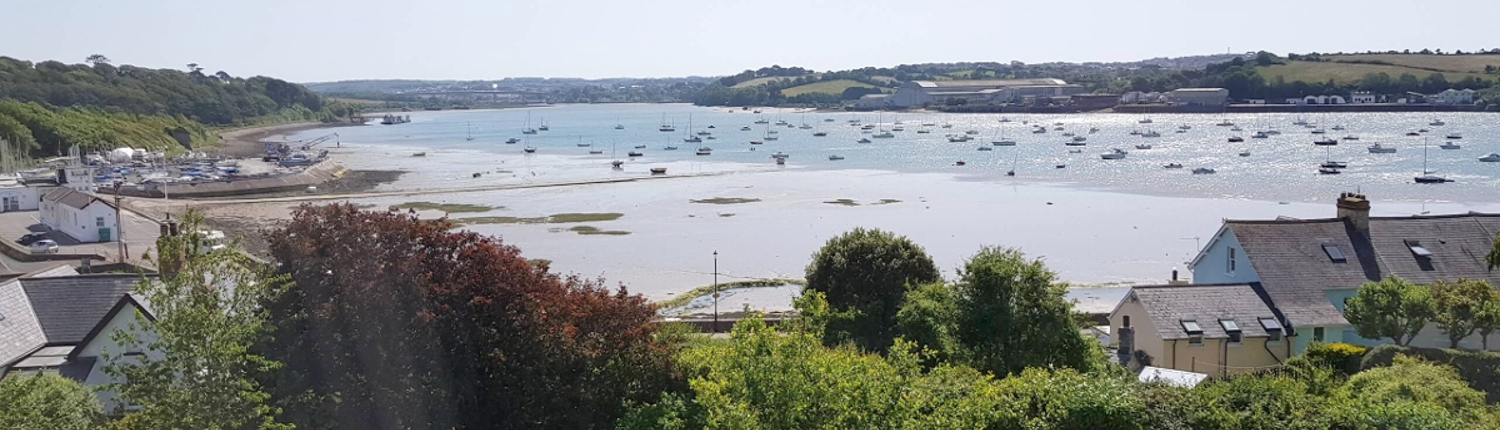 View across the Torridge river from the Instow apartment