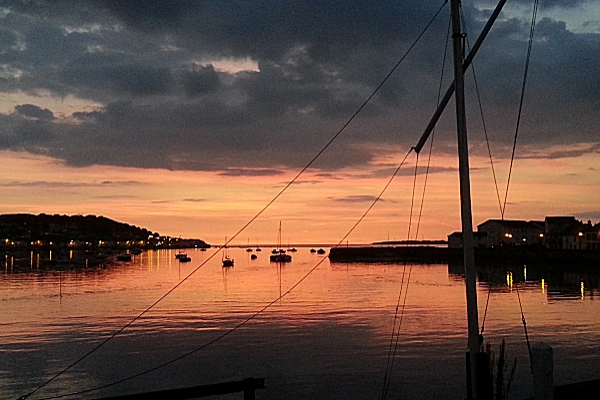 Sunset at Instow from North Devon Yacht Club