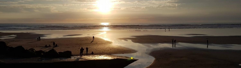 Westward Ho beach sandy golden sunset