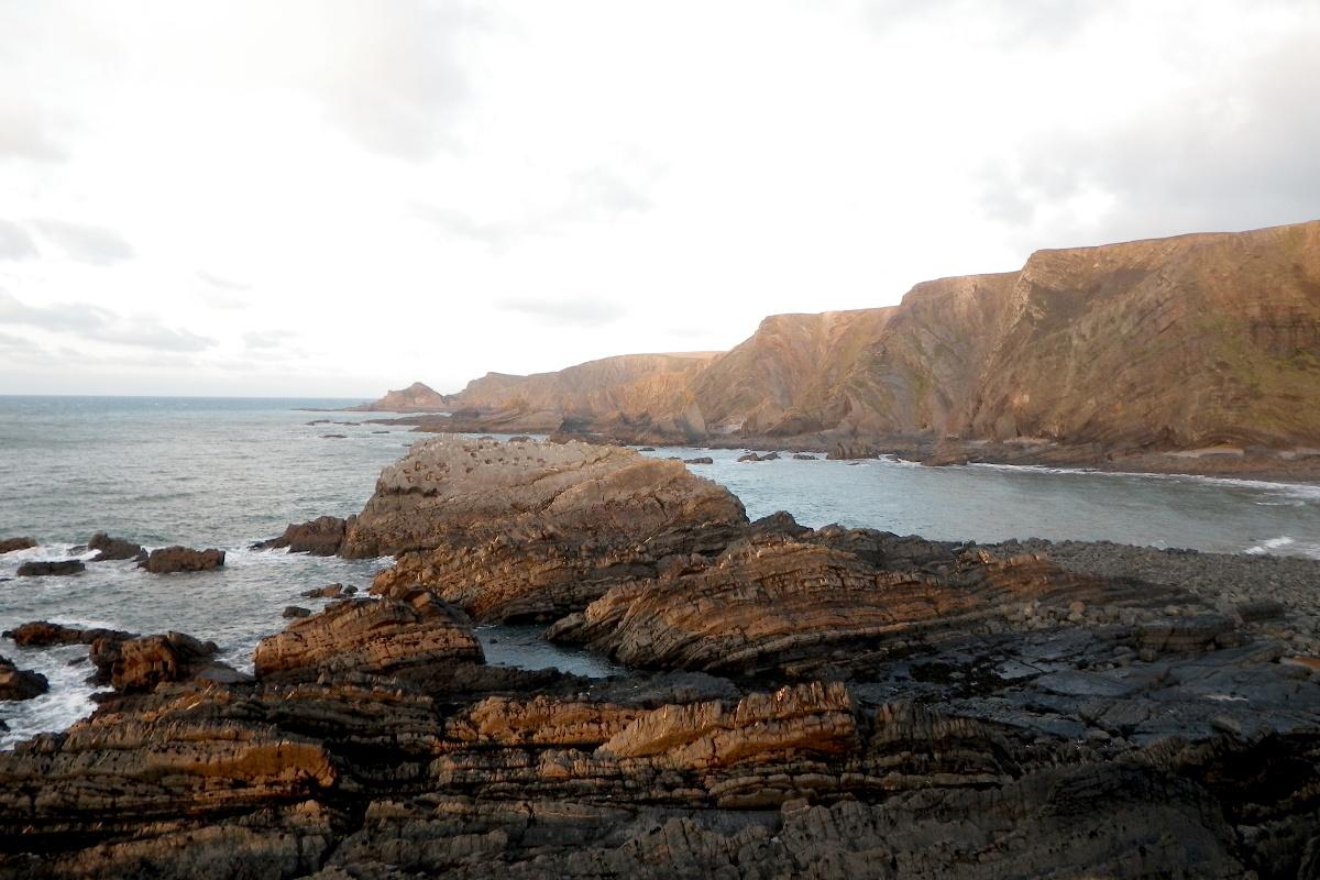 Cliffs at Hartland Quay